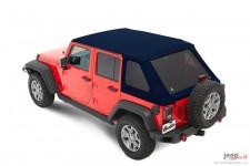 Dach miękki, Trektop™ NX Plus™ Twill, Ciemnoniebieski (Navy Blue) : 07-18 Jeep Wrangler Unlimited JK 4 drzwiowy