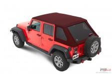 Dach miękki, Trektop™ NX Plus™ Twill, Mielona Czerwona Papryka (Crushed Red Pepper) : 07-18 Jeep Wrangler Unlimited JK 4 drzwiow