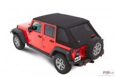 Dach miękki, Trektop™ NX Plus™ Twill, Czarny Twill (Black Twill) : 07-18 Jeep Wrangler Unlimited JK 4 drzwiowy