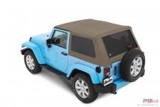 Dach miękki, Trektop™ NX Plus™ Twill, Piaskowo Beżowy (Pebble Beige) : 07-18 Jeep Wrangler JK 2 drzwiowy