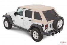 Trektop™ NX Glide™ Twill, Pebble Beige : 07-18 Jeep Wrangler Unlimited JK 4 Door