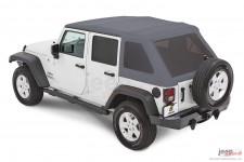 Trektop™ NX Glide™ Twill, Granite Gray : 07-18 Jeep Wrangler Unlimited JK 4 Door