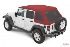 Dach miękki, Trektop™ NX Glide™ Twill, Mielona Czerwona Papryka (Crushed Red Pepper) : 07-18 Jeep Wrangler Unlimited JK 4 drzwi
