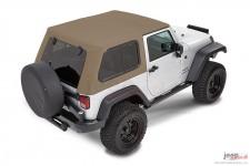 Dach miękki, Trektop™ Pro Hybrid, Piaskowo Beżowy (Pebble Beige) : 07-18 Jeep Wrangler JK 2 drzwiowy