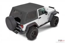 Dach miękki, Trektop™ Pro Hybrid, Granitowo Szary (Granite Gray) : 07-18 Jeep Wrangler JK 2 drzwiowy