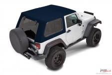 Dach miękki, Trektop™ Pro Hybrid, Ciemnoniebieski (Navy Blue) : 07-18 Jeep Wrangler JK 2 drzwiowy