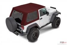 Dach miękki, Trektop™ Pro Hybrid, Mielona Czerwona Papryka (Crushed Red Pepper) : 07-18 Jeep Wrangler JK 2 drzwiowy