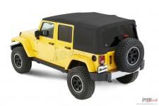 Dach miękki, Supertop® NX Twill, Piaskowo Beżowy (Pebble Beige) : 07-18 Jeep Wrangler Unlimited JK 4 drzwiowy
