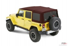 Dach miękki, Supertop® NX Twill, Mielona Czerwona Papryka (Crushed Red Pepper) : 07-18 Jeep Wrangler Unlimited JK 4 drzwiowy