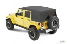 Dach miękki, Supertop® NX Twill, Granitowo Szary (Granite Gray) : 07-18 Jeep Wrangler Unlimited JK 4 drzwiowy