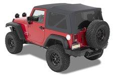 Dach miękki, Supertop® NX Twill, Granitowo Szary (Granite Gray) : 07-18 Jeep Wrangler JK 2 drzwiowy