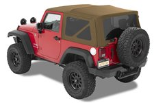 Dach miękki, Supertop® NX Twill, Jasnobrązowy Dębowy (Oak Tan) : 07-18 Jeep Wrangler JK 2 drzwiowy