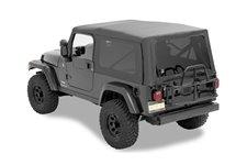 Dach miękki, Supertop® NX Classic, okna przyciemniane, bez drzwi, Czarny Diament (Black Diamond) : 04-06 Jeep Wrangler LJ
