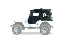 Dach miękki, Tigertop, Black Vinyl, Czarny (Black) : 55-81 Jeep CJ-6