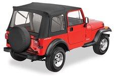 Dach miękki, Supertop® Classic, Czarny Dżinsowy (Black Denim) : 76-95 Jeep CJ-7 & Wrangler YJ