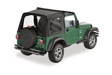 Dach miękki, Sunrider™, Czarny Dżinsowy (Black Denim) : 97-02 Jeep Wrangler TJ