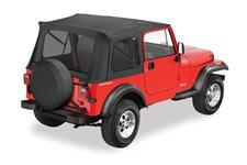 Dach miękki, Supertop® Classic, okna przyciemniane, Czarny Dżinsowy (Black Denim) : 76-95 Jeep CJ-7 & Wrangler YJ