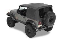 Dach miękki, Supertop® NX Classic, okna przyciemniane, bez górnych drzwi, Czarny (Black) : 87-95 Jeep Wrangler YJ