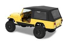 Dach miękki, Supertop® Classic, okna przyciemniane, Czarny Dżinsowy (Black Denim) : 81-85 Jeep CJ-8 Scrambler