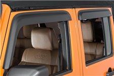 Owiewki okienne, Czarny matowy : 07-17 Jeep Wrangler JKU 4D