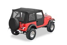 Dach miękki, Supertop® Classic, Czarny Dżinsowy (Black Denim) : 55-75 Jeep CJ-5 & 51-62 M-38A1