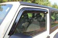 Owiewki okien bocznych, Przydymiane 07-17 Jeep Wrangler JK