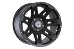 Felga aluminiowa XHD, czarny satynowy: 17x9 cali, 5x127, ET -12mm