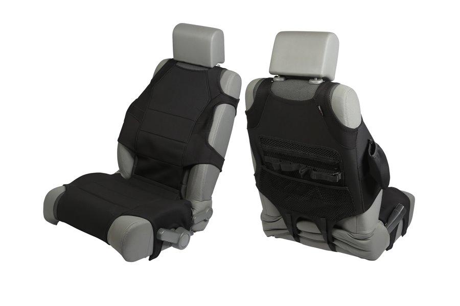 Neoprenowe kamizelki na przednie fotele, Czarne : 07-17 Jeep Wrangler JK
