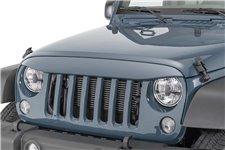 Nakładka na grill, brewka świateł przednich, seria NightHawk, Anvil : 07-18 Jeep Wrangler JK