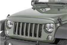 Nakładka na grill, brewka świateł przednich, seria NightHawk, Tank : 07-18 Jeep Wrangler JK