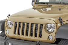 Nakładka na grill, brewka świateł przednich, seria NightHawk, Copper Brown : 07-18 Jeep Wrangler JK