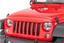 Nakładka na grill, brewka świateł przednich, seria NightHawk, Firecracker Red : 07-18 Jeep Wrangler JK