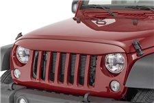Nakładka na grill, brewka świateł przednich, seria NightHawk, Cherry : 07-18 Jeep Wrangler JK