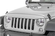 Nakładka na grill, brewka świateł przednich, seria NightHawk, Bright Silver : 07-18 Jeep Wrangler JK