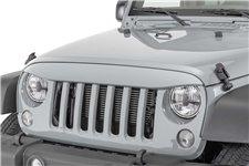 Nakładka na grill, brewka świateł przednich, seria NightHawk, Billet Silver : 07-18 Jeep Wrangler JK