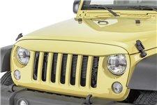 Nakładka na grill, brewka świateł przednich, seria NightHawk, Dune : 07-18 Jeep Wrangler JK