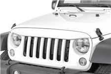 Nakładka na grill, brewka świateł przednich, seria NightHawk, Bright White : 07-18 Jeep Wrangler JK