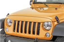 Nakładka na grill, brewka świateł przednich, seria NightHawk, Amped : 07-18 Jeep Wrangler JK