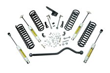 Suspension Lift Kit, 4 Inch, Shocks : 07-18 Jeep Wrangler JKU, 4 Door
