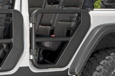 Drzwi Rurowe, Tylne, Czarne Teksturowane : 18-18 Jeep Wrangler JLU, 4 drzwiowy