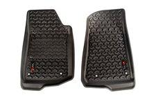 Dywaniki Podłogowe, Przednie, Czarne : 18-18 Jeep Wrangler JL/JLU