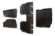 Dywaniki, Zestaw Przód + Tył + Bagażnik, Czarne : 18-18 Jeep Wrangler Unlimited JLU