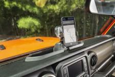 Uchwyt Telefonu i Kamery Sportowej na deskę rozdzielczą : 18-18 Jeep Wrangler JL/JLU