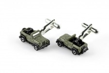 Spinki Mankietów Jeep, realistyczna replika Jeep Wrangler