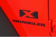"""Oryginalna Naklejka, """"X"""", Czarna : Jeep Wrangler JK"""