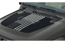 """American Flag"" Hood Decal : 18-19 Jeep Wrangler JL"