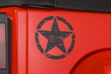 "Oryginalna Naklejka na tylne nadkole, ""Star"", Czarna : Jeep Wrangler JK"