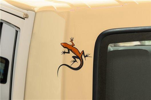 """Lizard"" Hardtop Decal : Jeep Wrangler JK"
