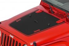 Oryginalna Nakejka na maskę, Jeep Logo, Czarna : 07-18 Jeep Wrangler JK