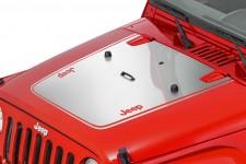 Oryginalna Nakejka na maskę, Jeep Logo, Chromowana : 07-18 Jeep Wrangler JK